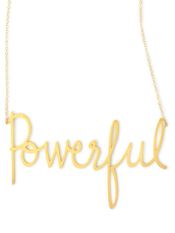 Powerful Necklace - Brevity Jewelry - Made in USA - Affordable Gold and Silver Jewelry