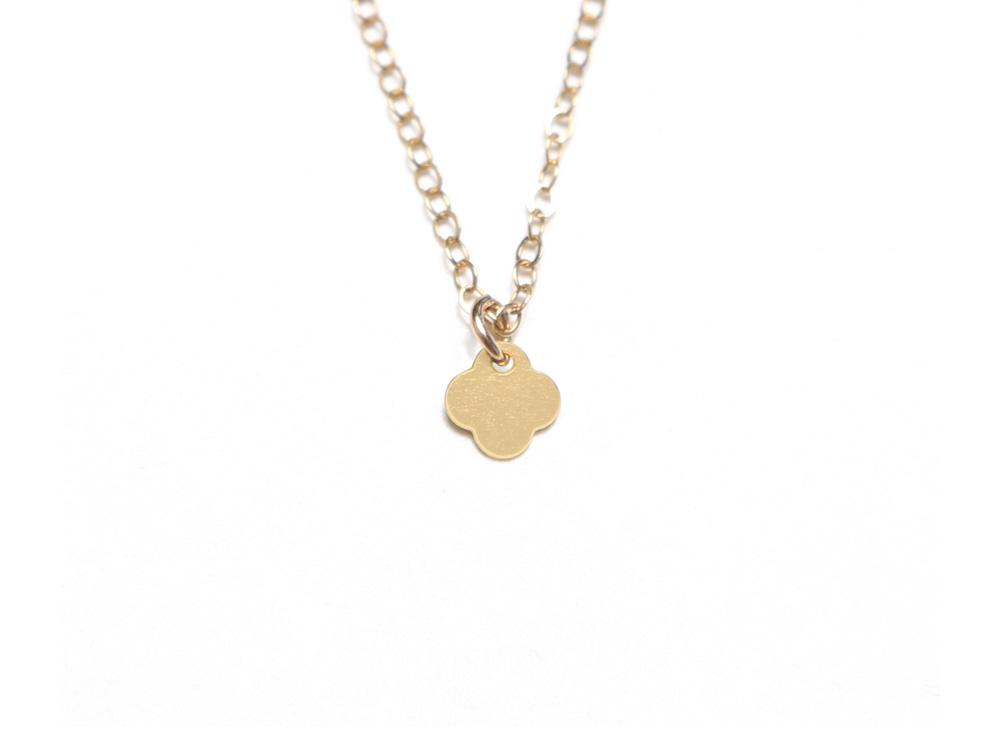 Small Quatrefoil Necklace - Brevity Jewelry - Made in USA - Affordable Gold and Silver Jewelry