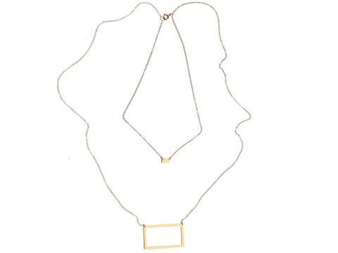 Rectangle - Pair {{ product.type }} - Brevity Jewelry - Made in USA - Affordable gold and silver necklaces