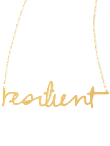 Resilient Necklace - Brevity Jewelry - Made in USA - Affordable Gold and Silver Jewelry