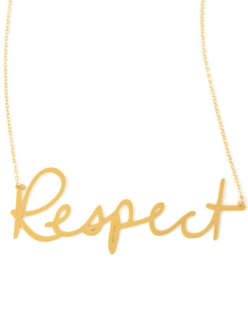 Respect Necklace - Brevity Jewelry - Made in USA - Affordable Gold and Silver Jewelry