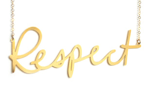 Respect - XX {{ product.type }} - Brevity Jewelry - Made in USA - Affordable gold and silver necklaces