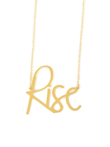 Rise Necklace - Brevity Jewelry - Made in USA - Affordable Gold and Silver Jewelry