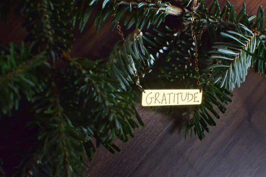 Gratitude Necklace - Brevity Jewelry - Made in USA - Affordable Gold and Silver Jewelry