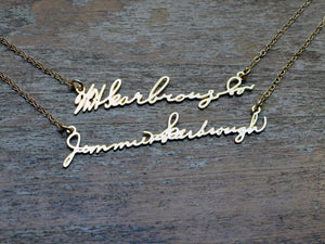 Double Signature Necklace