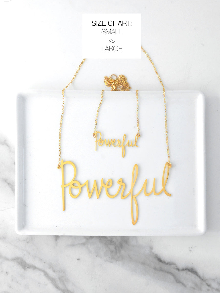No More Sexism Empowerment Necklace