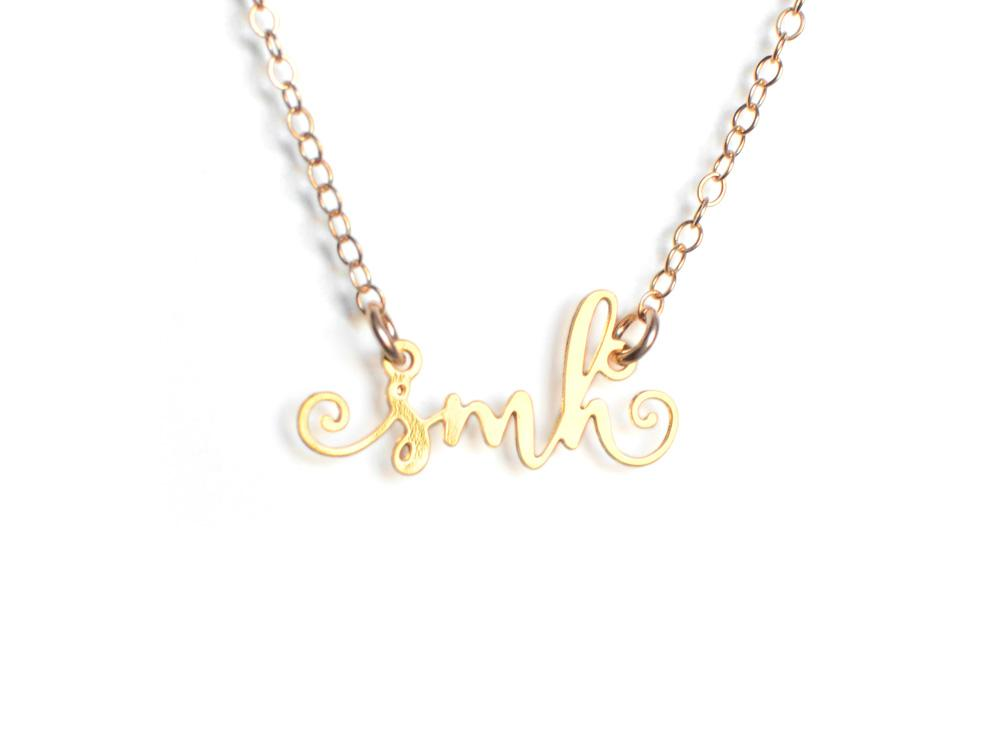 SMH Necklace - Brevity Jewelry - Made in USA - Affordable Gold and Silver Jewelry