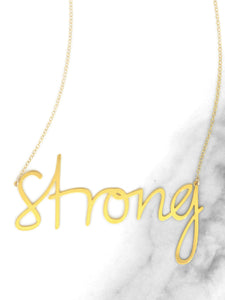 Strong Necklace - Brevity Jewelry - Made in USA - Affordable Gold and Silver Jewelry
