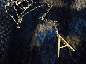 Alpha Charm Necklace - Brevity Jewelry - Made in USA - Affordable Gold and Silver Jewelry