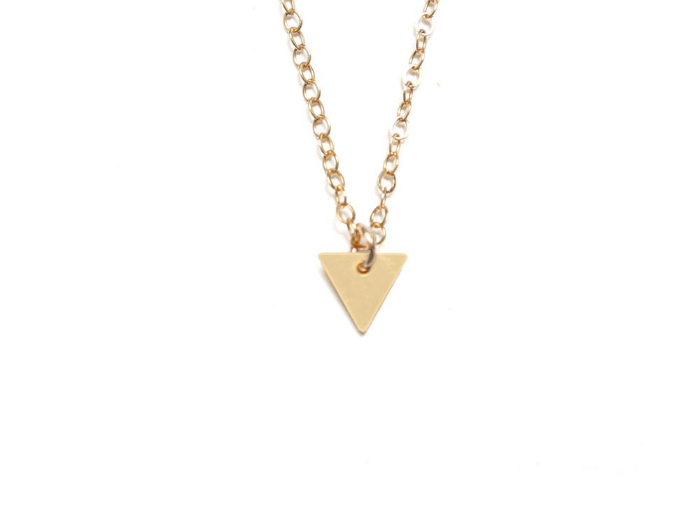 Triangle - Small {{ product.type }} - Brevity Jewelry - Made in USA - Affordable gold and silver necklaces