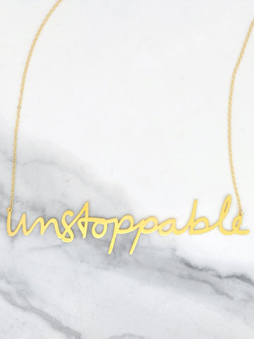 Unstoppable Necklace - Brevity Jewelry - Made in USA - Affordable Gold and Silver Jewelry