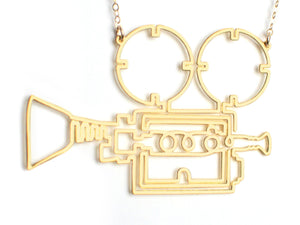 Film Camera Necklace - Brevity Jewelry - Made in USA - Affordable Gold and Silver Jewelry