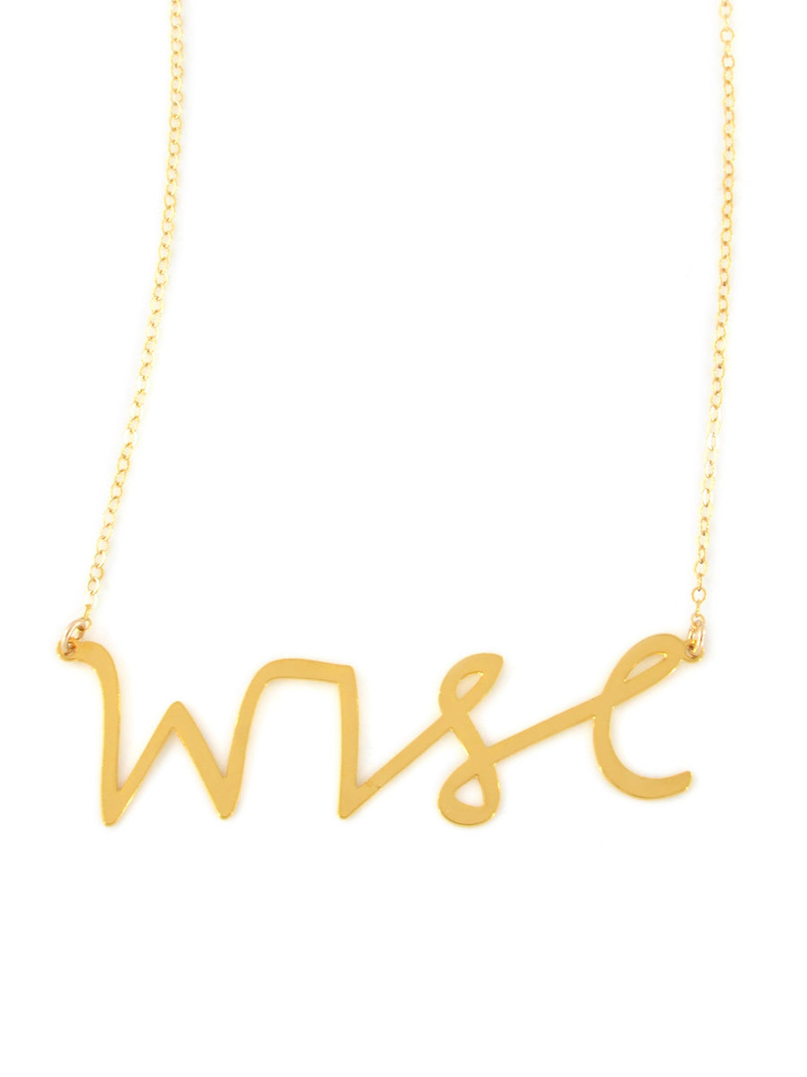 Wise Necklace - Brevity Jewelry - Made in USA - Affordable Gold and Silver Jewelry