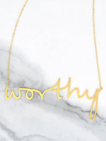 Worthy Necklace - Brevity Jewelry - Made in USA - Affordable Gold and Silver Jewelry