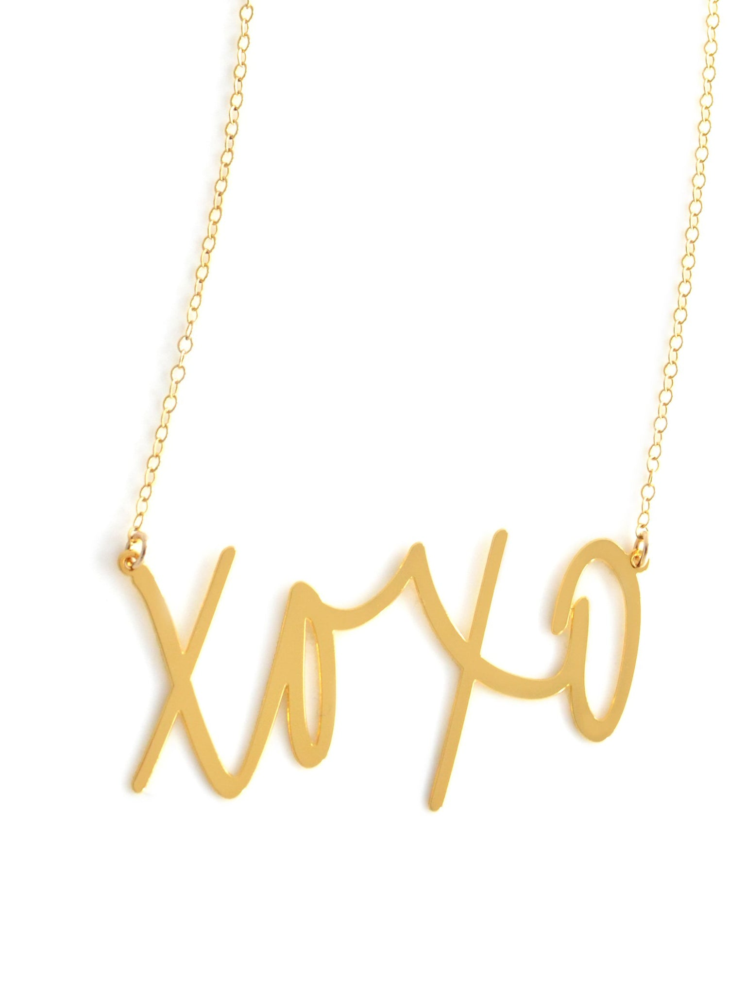 XOXO Necklace - Brevity Jewelry - Made in USA - Affordable Gold and Silver Jewelry