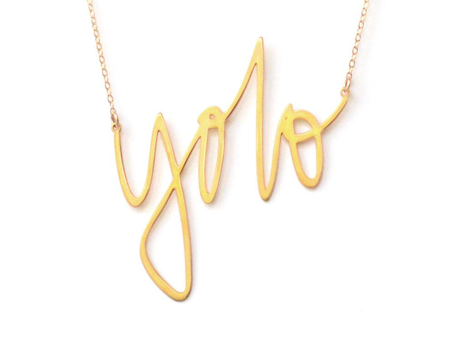 Yolo Necklace - Brevity Jewelry - Made in USA - Affordable Gold and Silver Jewelry