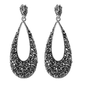 Dreamy Night Black Crystal Earrings Breon-Jovon