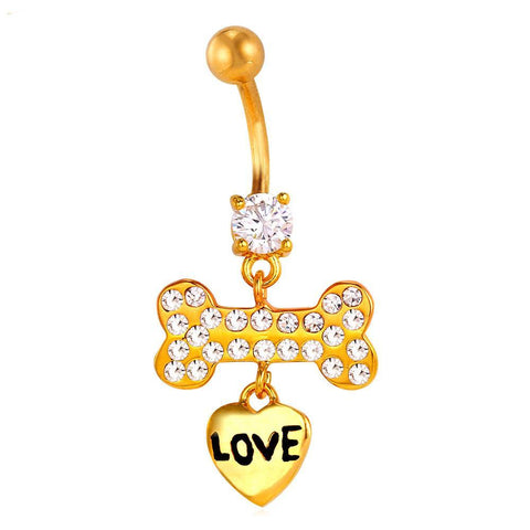 Dog Bones Belly Button Ring Breon-Jovon
