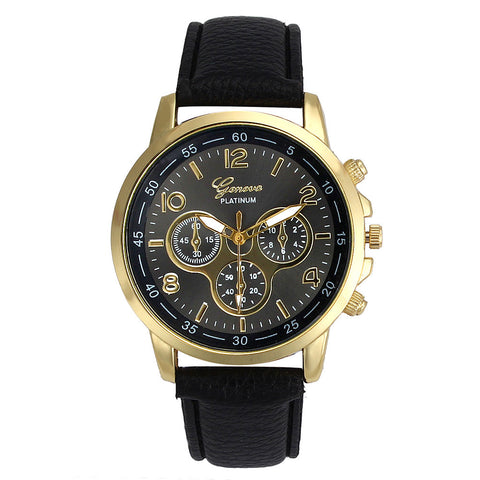 Unisex Leather Fashion Watches Breon-Jovon