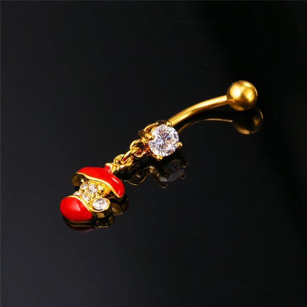 Apple Core Belly Button Ring Breon-Jovon