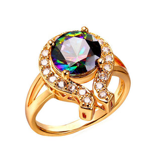 Rainbow Charm Cocktail Ring Breon-Jovon