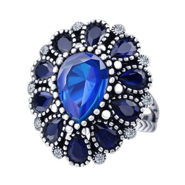 Bohemia Crystal Flower Cocktail Ring - BBB Breon-Jovon