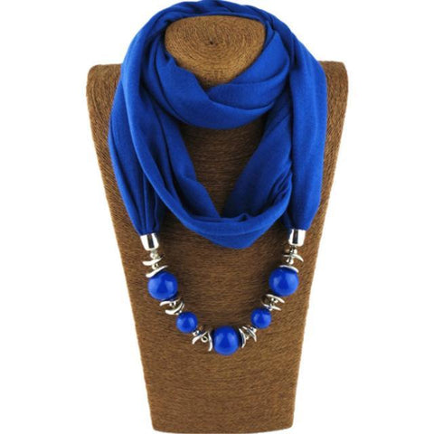 Beaded Charm Pendant Scarf/Necklace Breon-Jovon