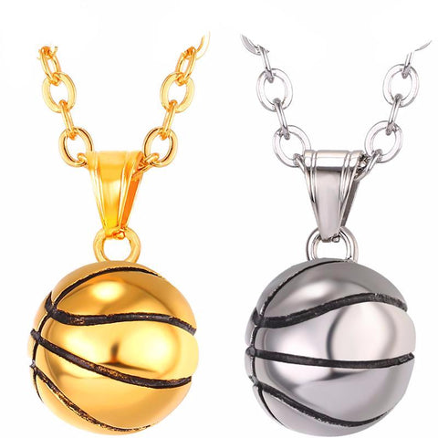 Basketball Pendant Sport Necklaces Breon-Jovon