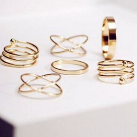 Unique 6Pcs Ring Set Breon-Jovon