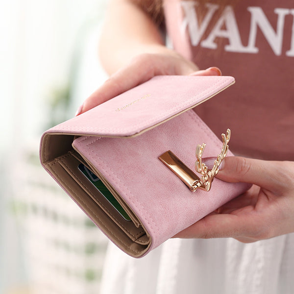 Deer Buckle Ladies Wallets Breon-Jovon