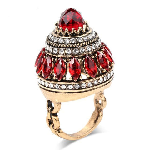 Large Setting Turkish Crystal Cocktail Ring Breon-Jovon