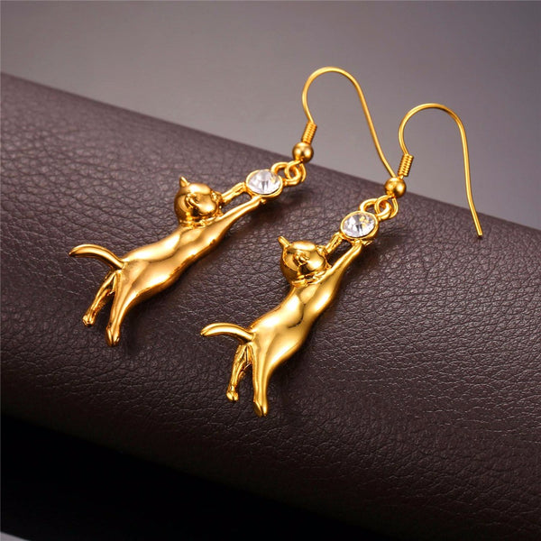 Cute Cat Drop Earrings Breon-Jovon