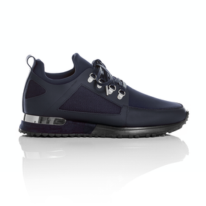 Mallet Footwear - Navy Leather Hiker Trainers 2