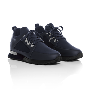 Mallet Footwear - Navy Leather Hiker Trainers 1