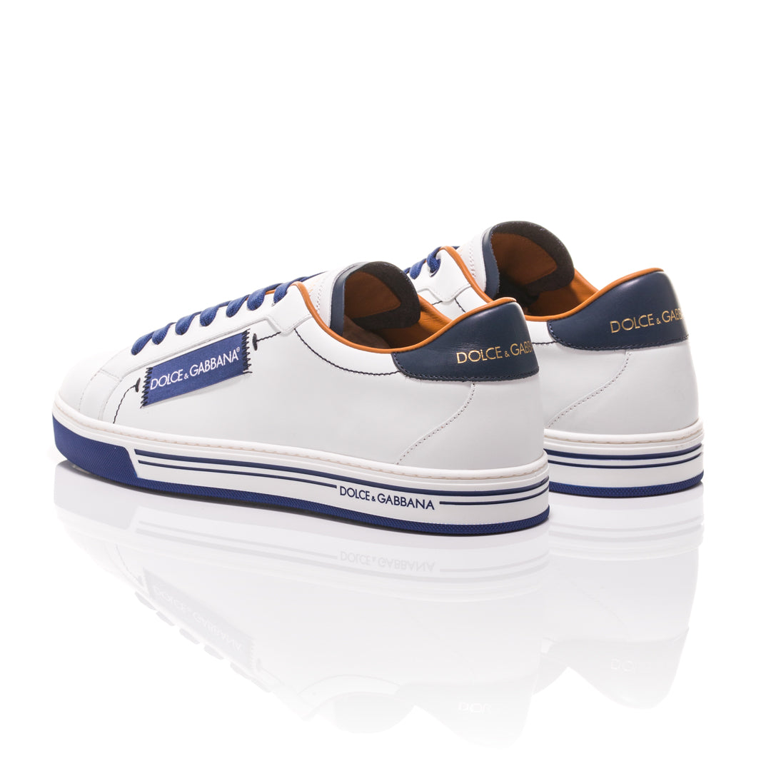 Dolce & Gabbana - White and Blue Roma Sneakers 3