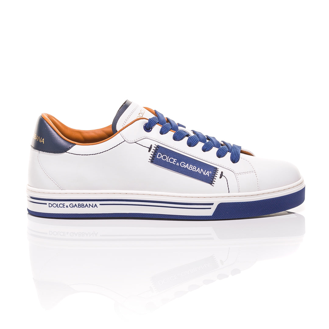 Dolce & Gabbana - White and Blue Roma Sneakers 2
