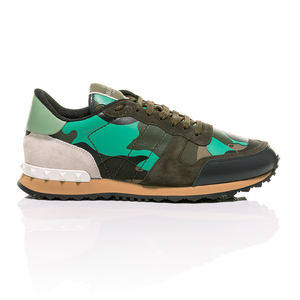 Valentino - Minty Green Camouflage-Print Rockrunner Sneakers 2