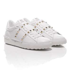 Valentino - White Rockstud Untitled #11 Leather Sneakers 1
