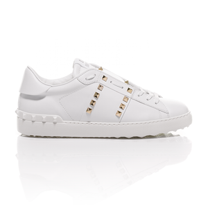 Valentino - White Rockstud Untitled #11 Leather Sneakers 2