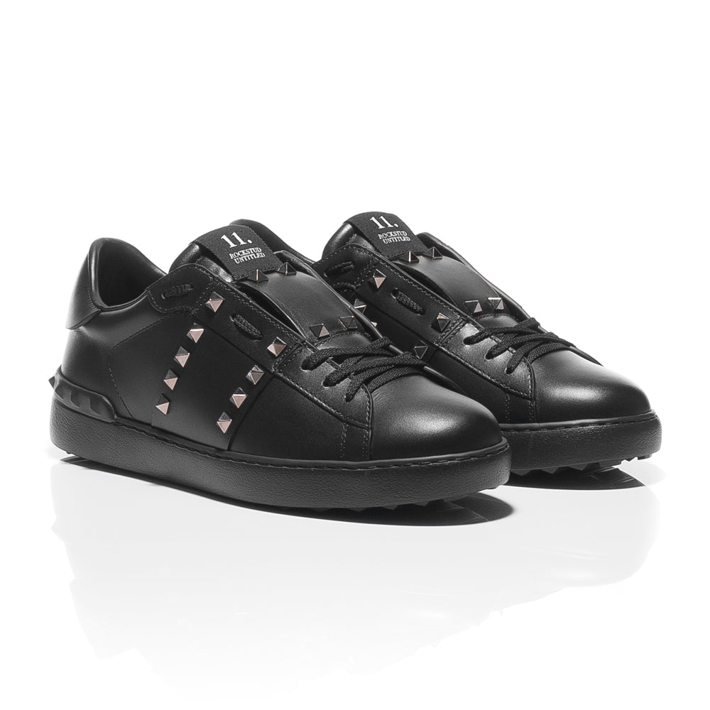 Black leather sneakers Valentino Shop Online Clearance Official Discount Low Shipping Buy Cheap Sale YQrYjtM