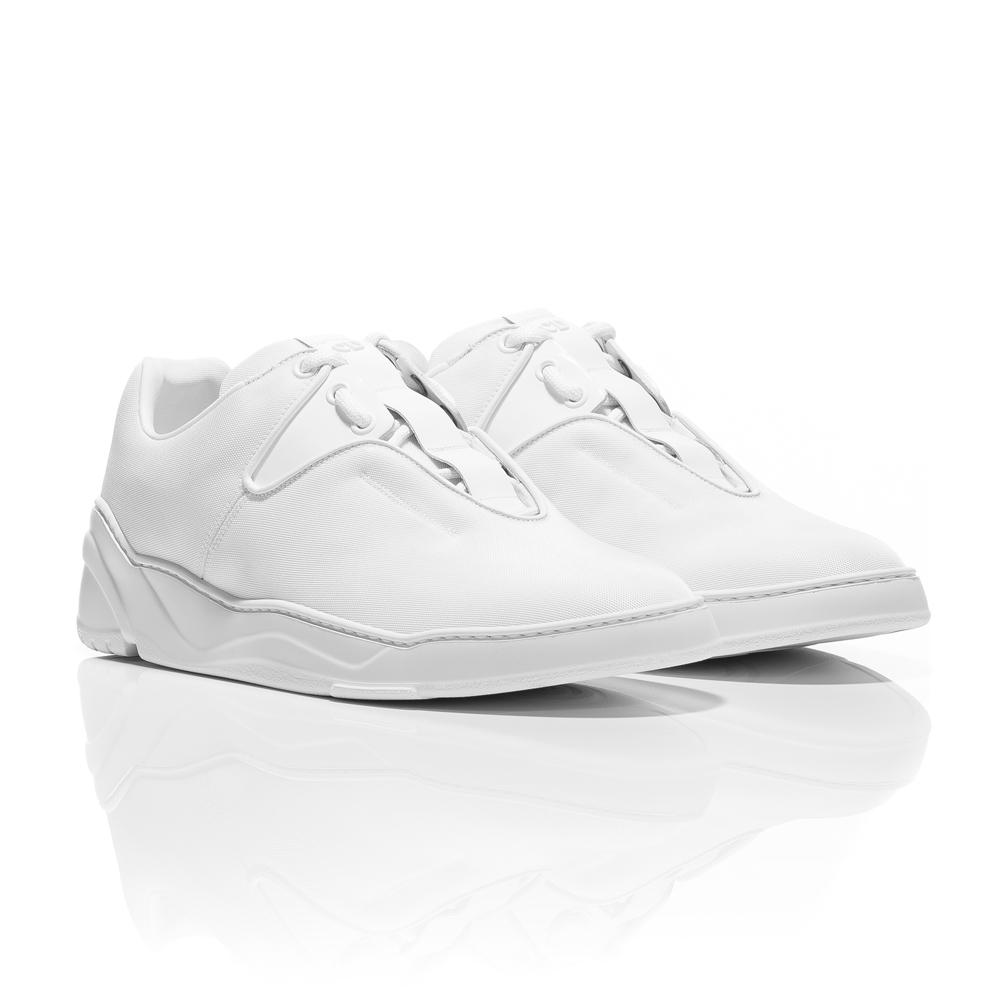 4fecda6f762 Dior Homme SS18 - Triple White Nylon Canvas and Calfskin Sneakers – Lux  Junky