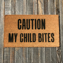 Caution My Child Bites – Natural Coir Doormat