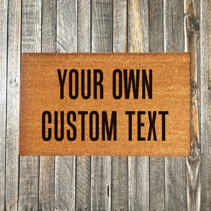 Your Own Custom Text – Natural Coir Doormat