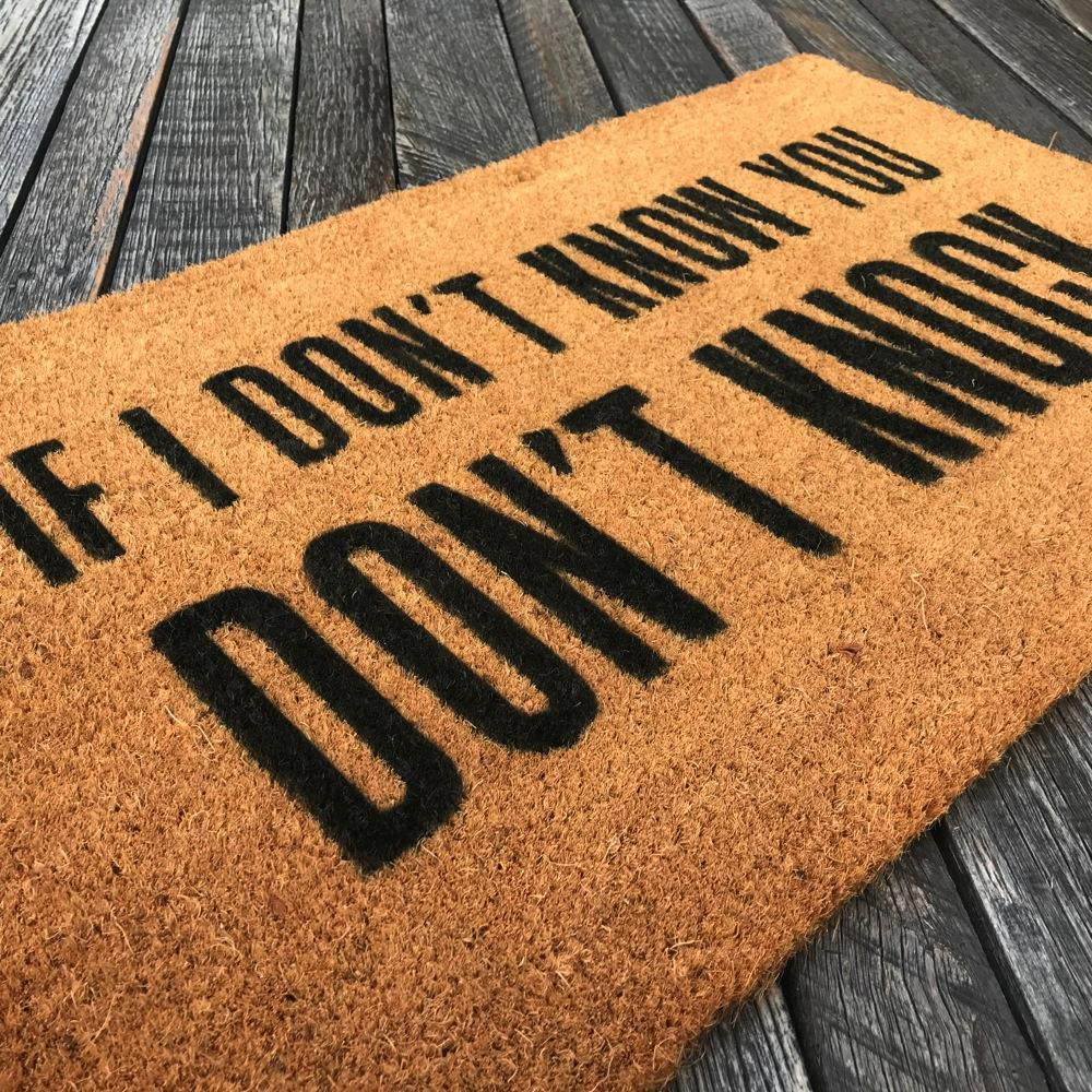 if i don t know you don t knock natural coir doormat offensive