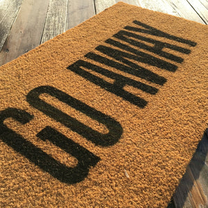 Go Away – Natural Coir Doormat