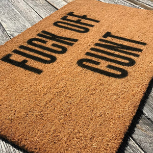 Fuck Off Cunt – Natural Coir Doormat
