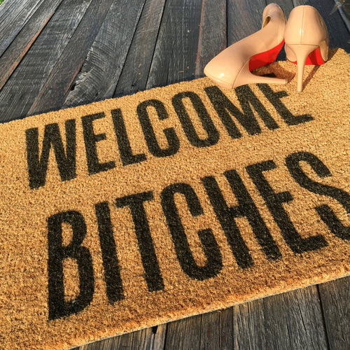 Welcome Bitches – Natural Coir Doormat