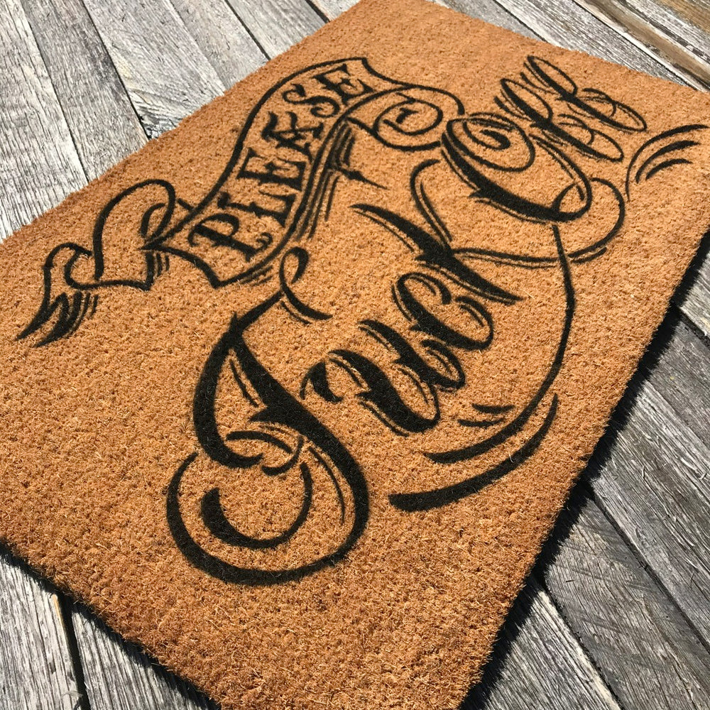 Please Fuck Off (Tattoo Collection) – Natural Coir Doormat ...