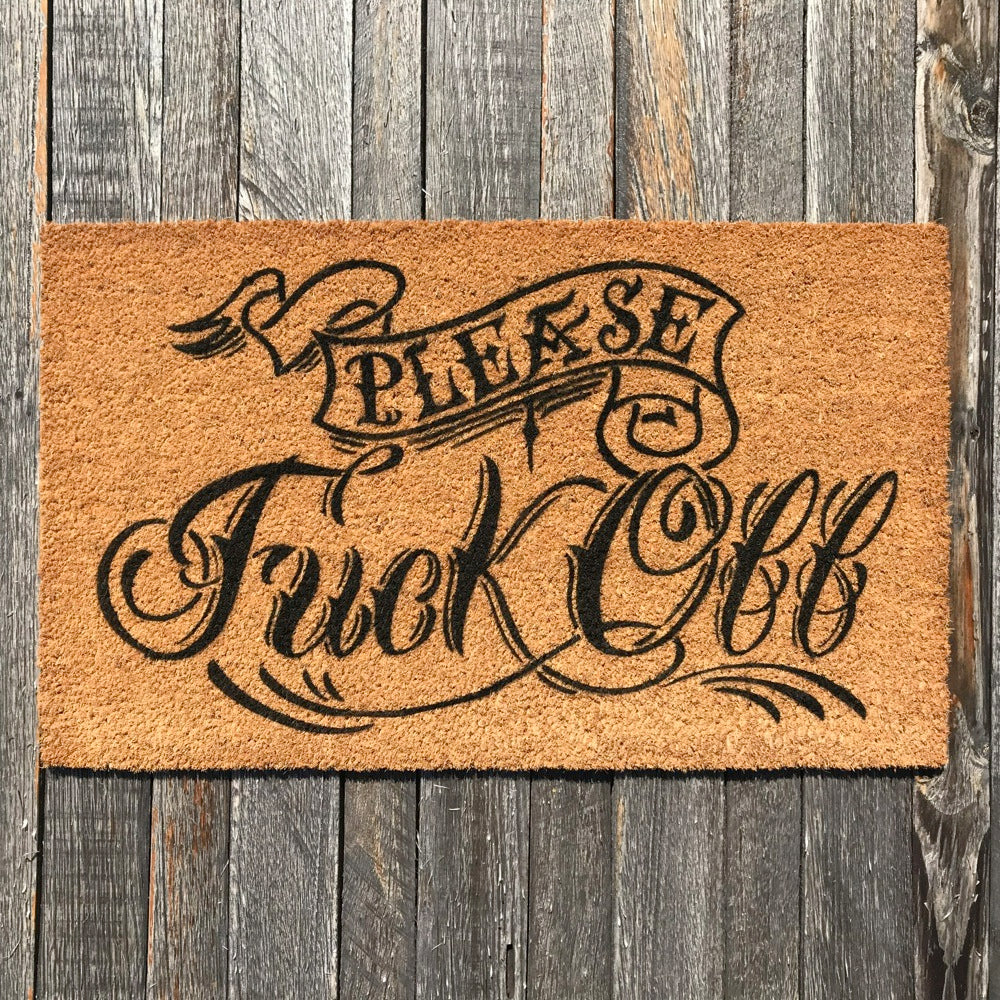 Please Fuck Off (Tattoo Collection) – Natural Coir Doormat