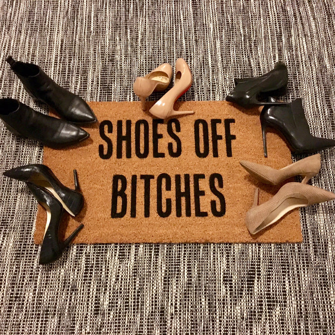 Shoes Off Bitches – Natural Coir Doormat